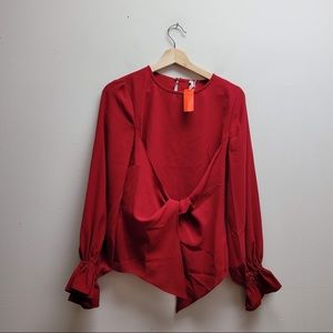 Glam NWT Red Long Sleeve Top Small